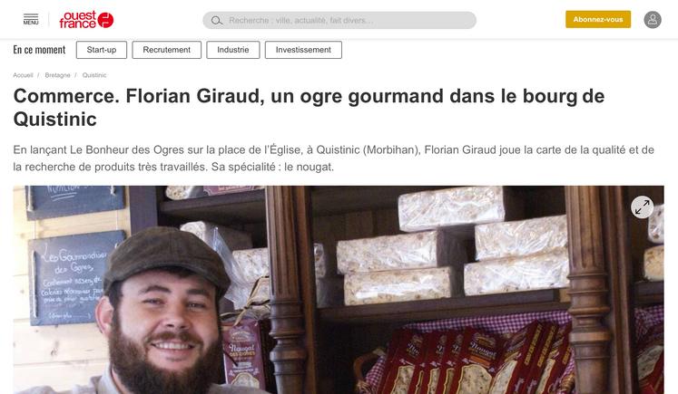 Le Bonheur des Ogres & Ouest France / 2018