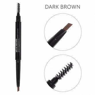 Механический карандаш для бровей со щеточкой цвет темно-коричневый