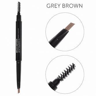 Механический карандаш для бровей со щеточкой цвет серо-коричневый