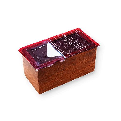 Caixa de Madeira Vermelha