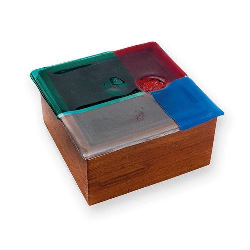 Caixa de Madeira Colorida