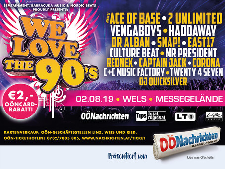 WE LOVE THE 90`s Presseinfos