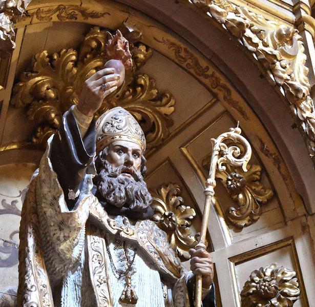 Escultura en madera de San Agustín, Iglesia de los Hospitalicos de Granada