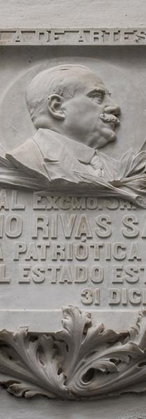 Lápida conmemorativa a Natalio Rivas, 1918