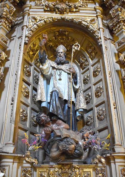 Escultura de San Agustín de Navas Parejo