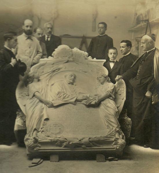 En el taller de Navas Parejo, 1917