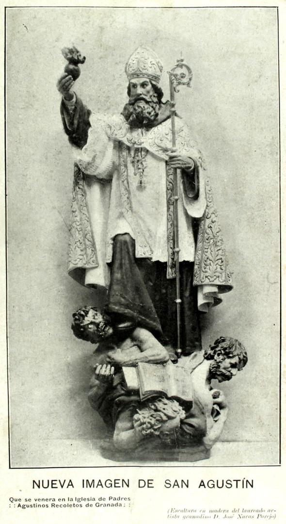escultura de San Agustín