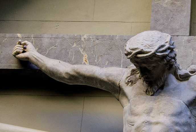 detalle de un brazo del Cristo de las Angustias