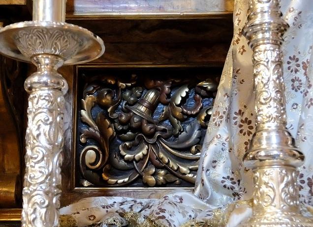 detalle del Retablo Virgen del Carmen