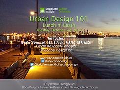 ULI BC  Urban Design 101 Lunch + Learn-O
