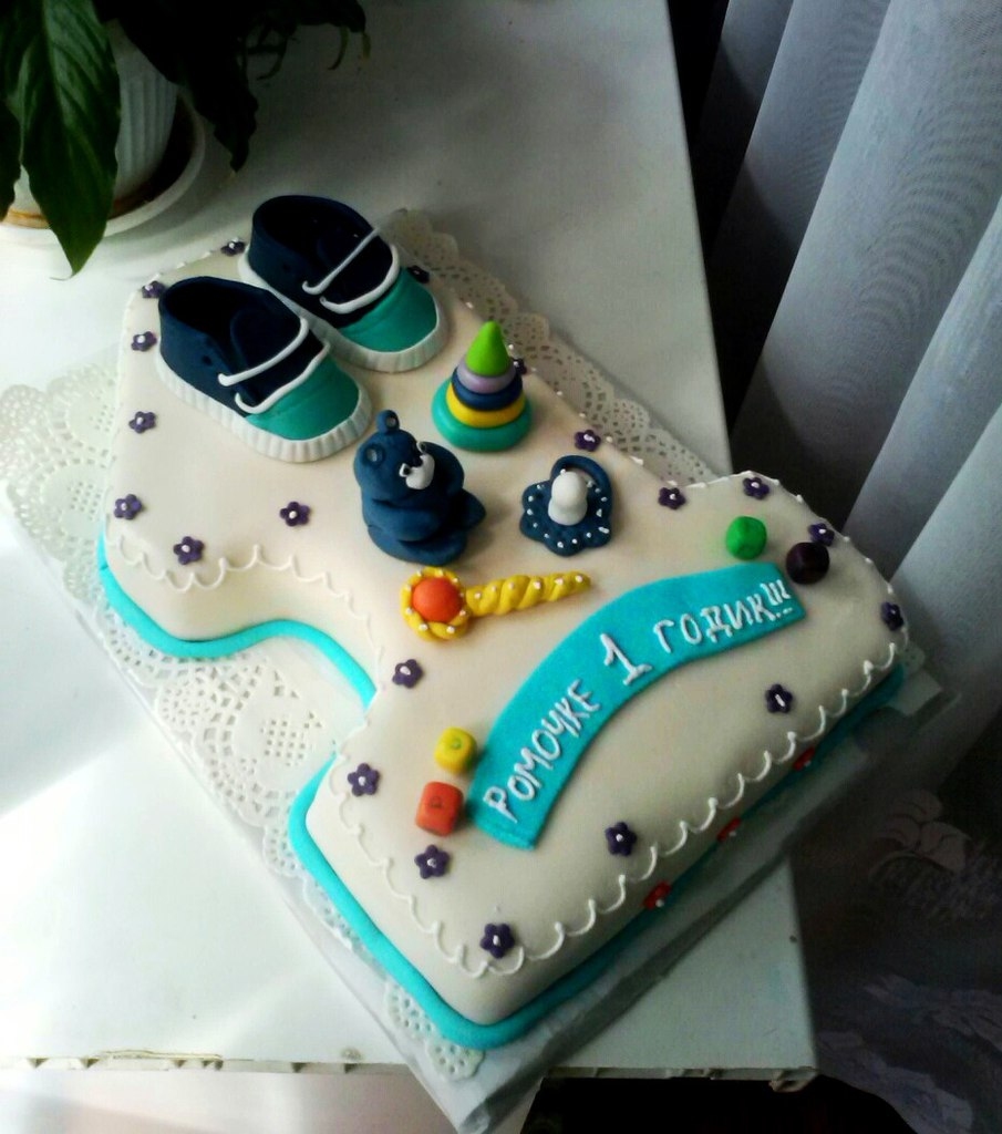 Торт циферкой 1