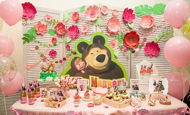 Маша и медведь, сладкий стол
