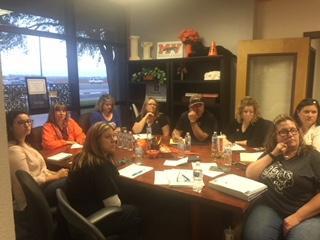 Directors at meeting