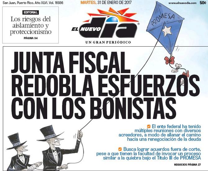 La Junta Federal se reúne con bonistas