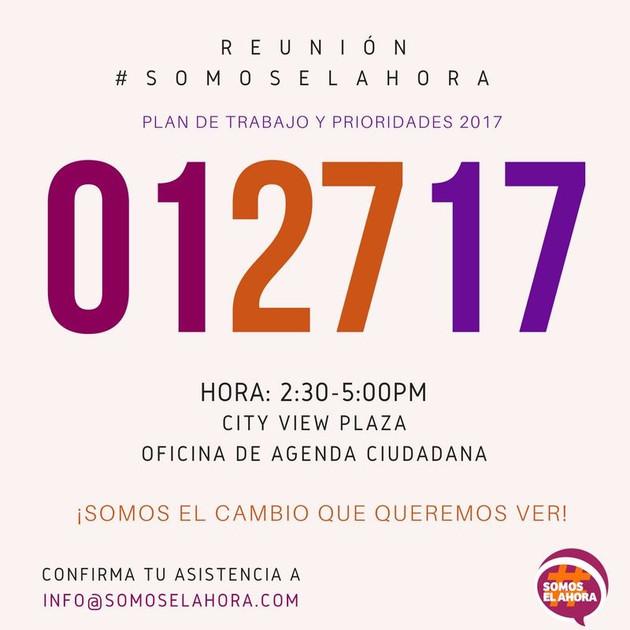 Reunión #SOMOSelAHORA