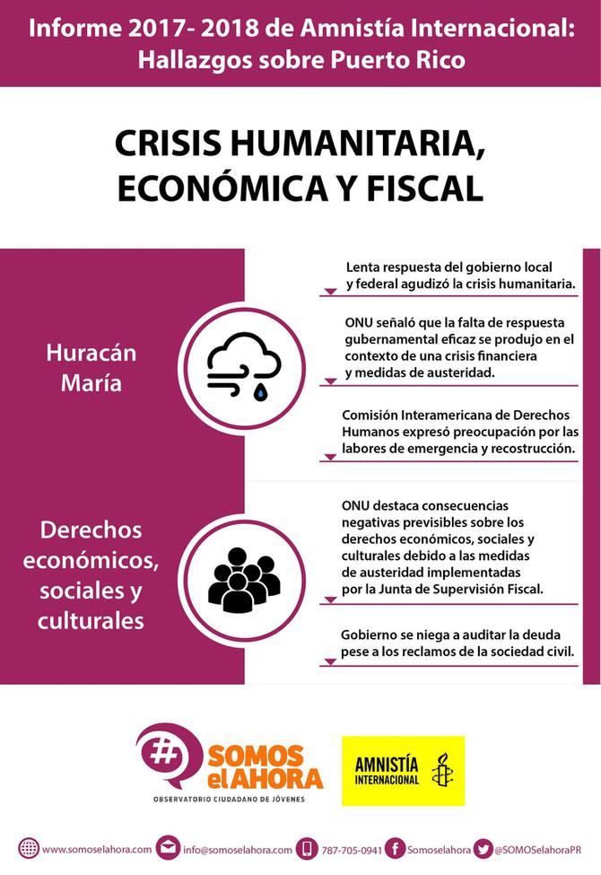 Informe 2017-2018 de Amnistía Internacional sobre Puerto Rico