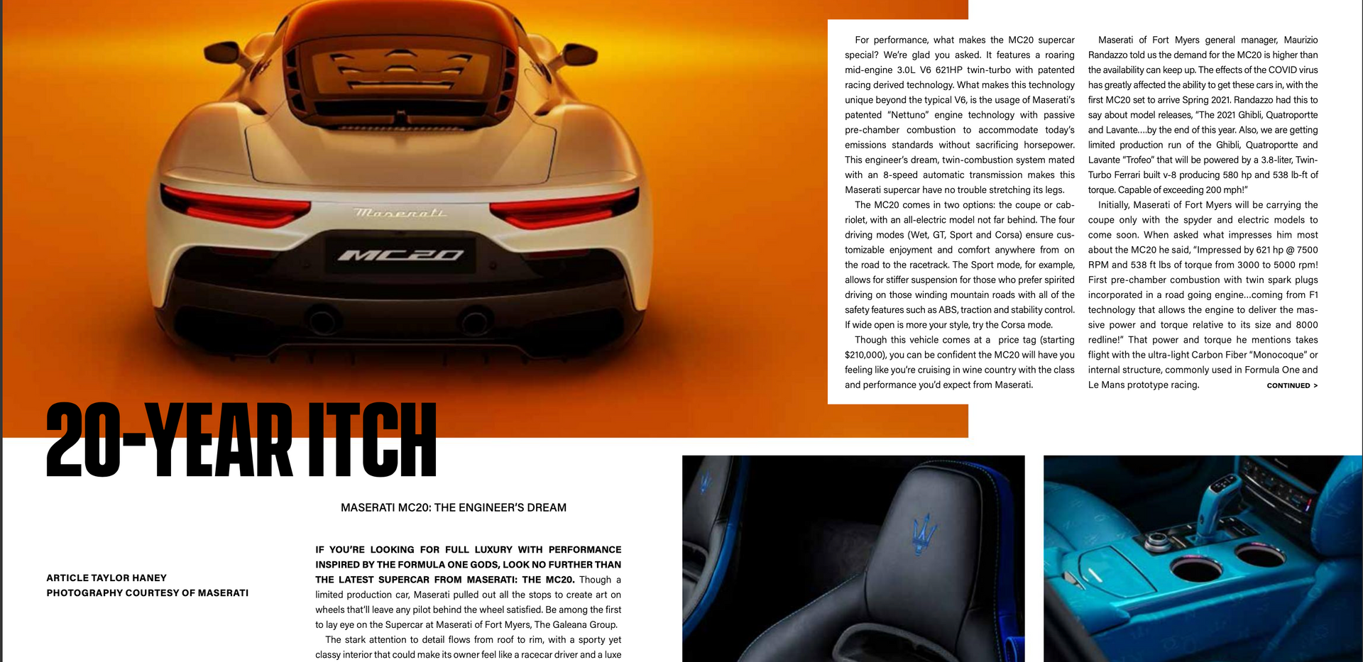 Naples Lifestyle MC20 Article