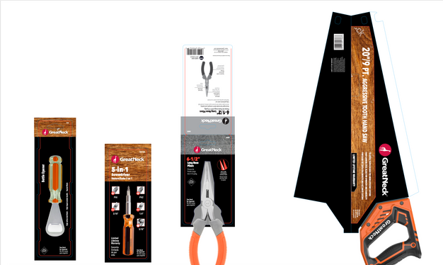 Great Neck Saw Packaging