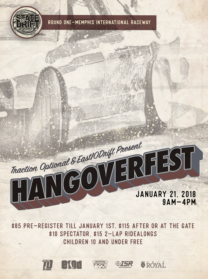 Traction Optional Hangoverfest Poster