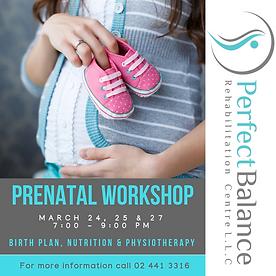 Prenatal Workshop birth pregnancy nutrition women's health