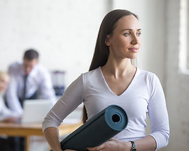 bigstock-Business-Woman-With-Yoga-Mat-12