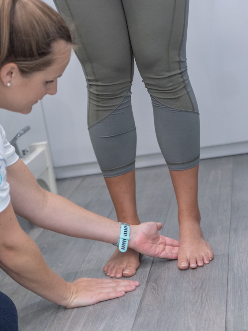 Physical therapy - assessment of feet