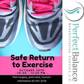 safe return to execise physiotherapy rehabilitation
