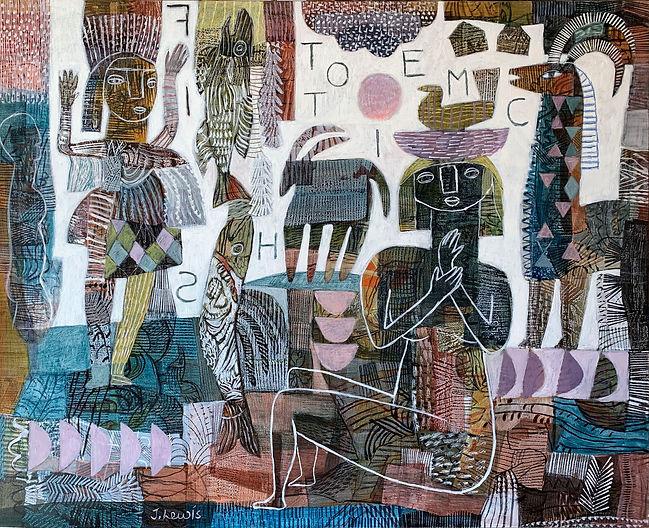Totemic Fish_120x150cm_acrylic-canvas_20
