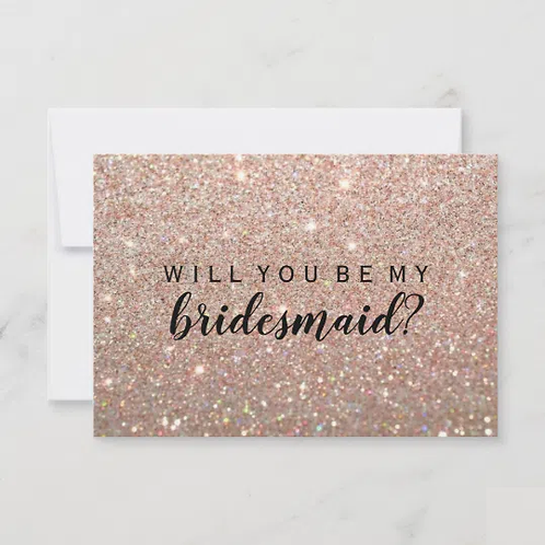 Will You Be My Bridesmaid Card - Rose Gold