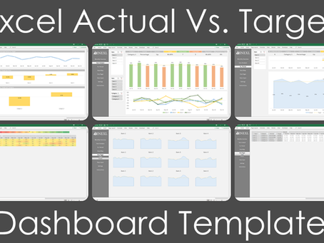 Probably The Best Excel Actual Vs. Target Dashboard Template On The Internet