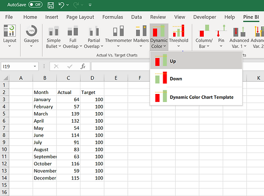 Pine BI Excel Select Chart