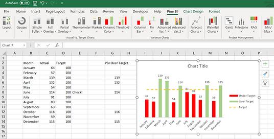 Pine BI Excel Select Range