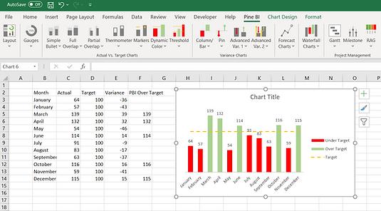 Pine BI Excel Auto Populate