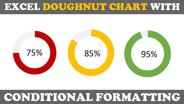 Excel Doughnut Chart Dynamic Color Tutorial