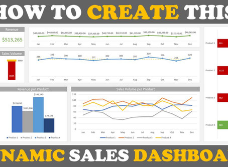 How to Create a Sales Dashboard in Excel