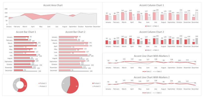 Excel Dashboard Design Red