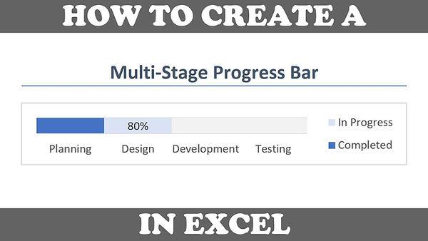 Excel Multi Stage Progress Bar Tutorial