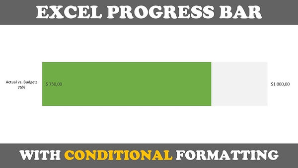 Excel Actual vs Budget Progress Bar Chart Tutorial