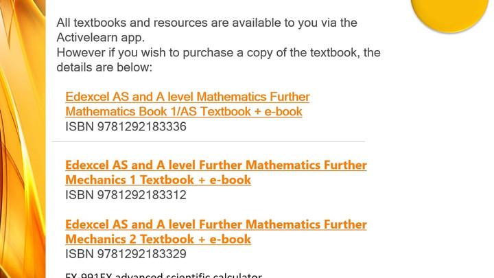 A Level Maths & Further Maths