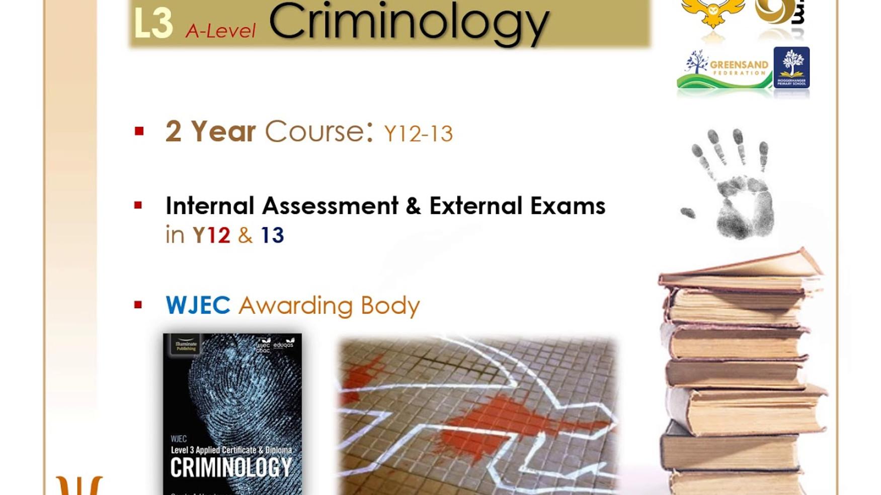 A Level Psychology & Level 3 Criminology
