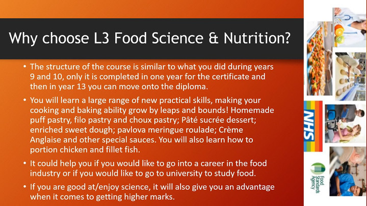 Level 3 Food Science