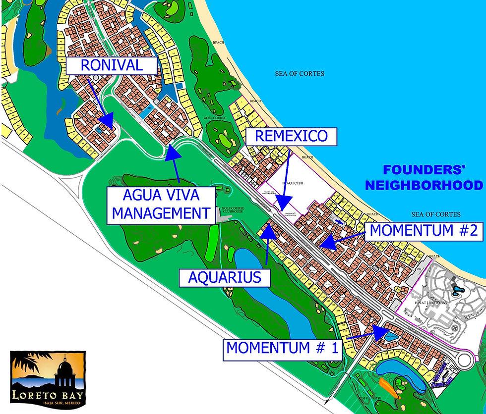 map of realty companies in loreto bay, realtors loreto bay, loreto, list