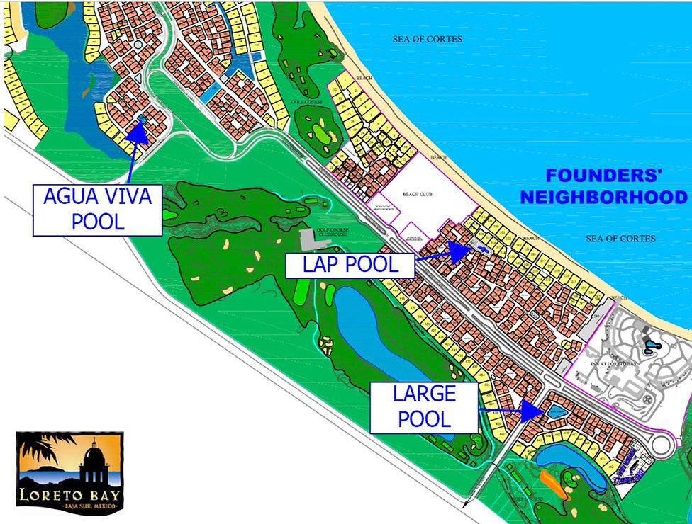 map of loreto bay pools, hoa