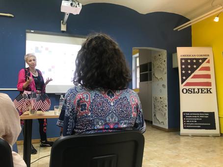 Predavanje održano 4. lipnja 2019. s Josipom Mijoč u osječkom American Corneru