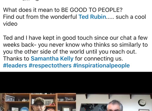 Great to have our great chat featured on Ted Rubin's Straight Talk blog