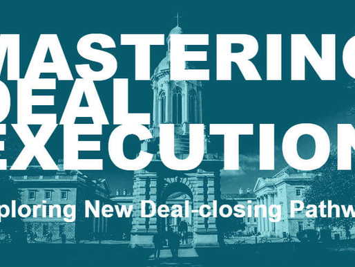 Trinity Business School | Mastering Deal Execution