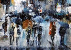 Shopping in the rain - 182 €