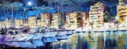 puerto nocturno