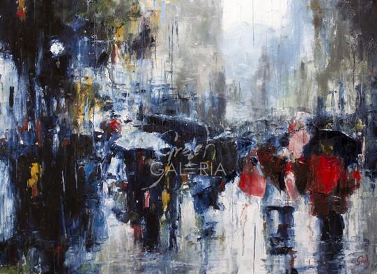Walking on rainy street - VENDIDO