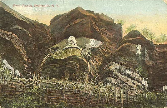Pratt Rock Postcard from 1909 image